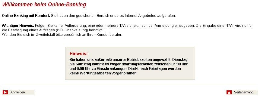 Screenshot Sparkasse Offlinebanking